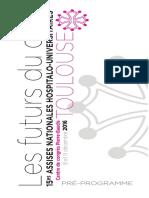 Programme des Assises nationales hospitalo-universitaires de Toulouse