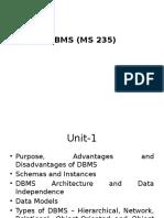 Unit-1 DBMS