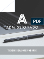 The Admissionado Mba Resume Guide