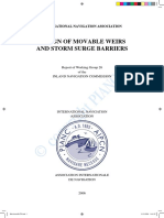 Design of movable weirs and storm surge barriers