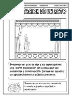 Ficha Presentación de Un Acto