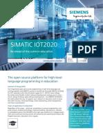 SIMATIC-IOT2020 Flyer