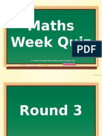 Maths Week Quiz