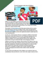 Christ Embassy Fulfils God's Mandate in the Lives of Children