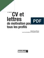 100 Cv Et Lettres de Motivation