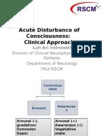 Acute Disturbance of Consciousness EIDCP 2016