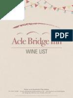 Wine List 3mm