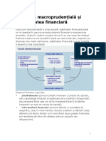 Politica Macroprudentiala Si Stabilitatea Financiara