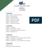 Qumica - Conteudo Programtico Anual - 1 Ano Mdio
