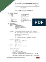 Case Report Appendicitis Acute