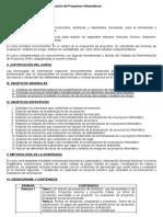 Programa Formulación y Evaluación de Proyectos de Informática