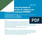 Avaliação de uma ferramenta de controle de versões de software com o modelo de avaliação OPENBRR