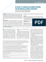 Can Placental Growth Factor in Maternal Circulation Identify Fetuses With Placental Intrauterine Growth Restriction