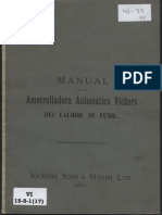 Manual Ametralladora Vickers Calibre Fusil (1907)