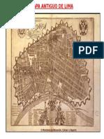 Mapa Antiguo de Lima