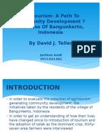 Agritourism- A Path to Community Development