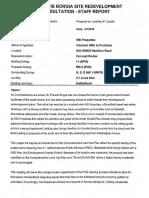 SFB - Cedarburg WI Planning Commission - ST. FRANCIS BORGIA SITE REDEVELOPMENT CONSULTATION m STAFF REPORT - August 2016