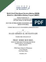 Dr. Saad Ahmed Al Muhannadi - 2015 - PhD - DBA