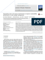 Synergising Water and Energy Requirements to Improve Sustainability Performance in Mine Tailings Management