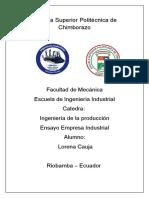 Ensayo Empresa Industrial