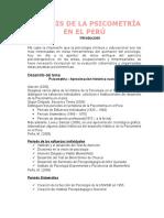 Análisis de La Psicometría en El Perú