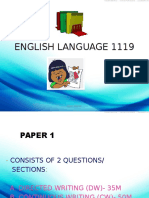 English Language 1119 Paper 1