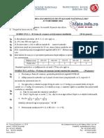 Subiect Simularea Examenului de Evaluare Nationala 2017 - Olt
