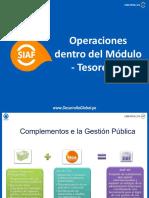 SIAF - Operaciones de tesorería
