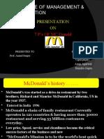Mcdonald Ppt by Rakesh