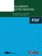 Livro Belo Monte e a Questao Indigena