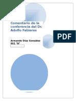 Comentario de La Conferencia Del Dr. Adolfo Fabieres