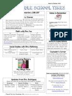 october newsletter 2016