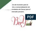 Proyecto de Inversión Para La Elaboración y Comercialización de Maquina Cortadora de Cacao Para El Mercado Peruano