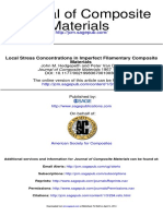 Local Stress Concentrations in Imperfect Filamentary Composite Materials