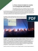 Giuseppe Lasco Terna Trovare La Sintesi TraCrescita EconomicaeLa Salvaguardia Dell'Ambiente