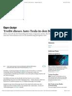 Treibt Dieses Auto Tesla in Den Bankrott? - News Wirtschaft