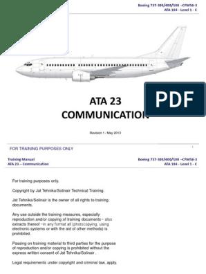 Ata 23 Communication | Electronics | Information And
