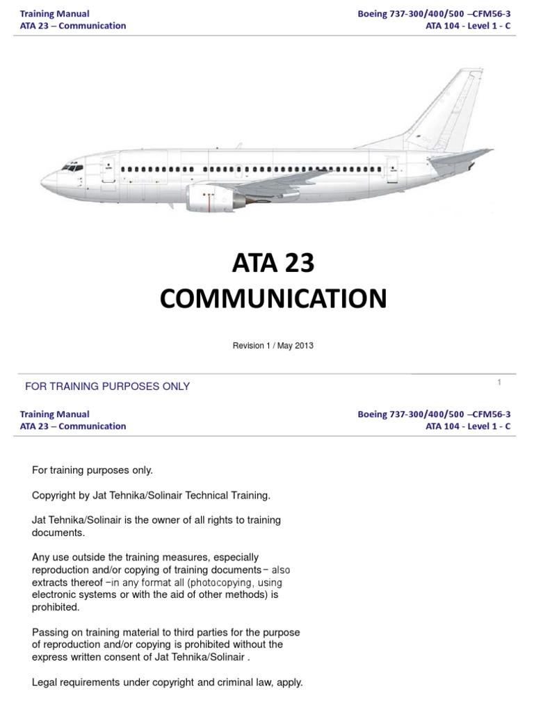 ata 23 communication rh scribd com Boeing 737- 700 Boeing 737 Max