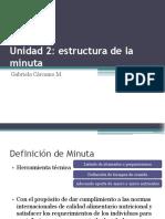 Estructura de La Minuta