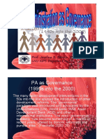 Governance as PA