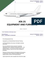 Ata 25 Equipment and Furnishing