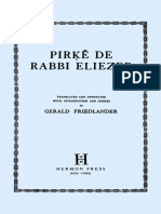 Pirke de Rabbi Eliezer (Translated and Annotated With Introduction and Indices by Gerald Friedlander)