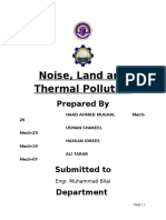Report Noise, Land and Thermal Pollution