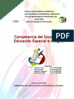 Competencia Esp. e Integral y Comunicacion y Lenguaje