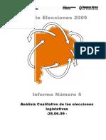 Informe Nº6 Análisis Cualitativo Legislativas 09