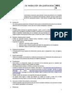 Guía Rápida Para La Redacción de Protocolos