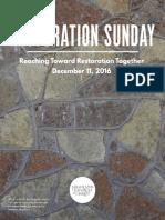 Restoration Sunday Booklet