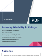 learning disability  in college