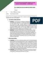Informe Academico y Conductual 2016
