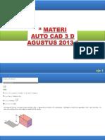 Materi AUTOCAD 3D